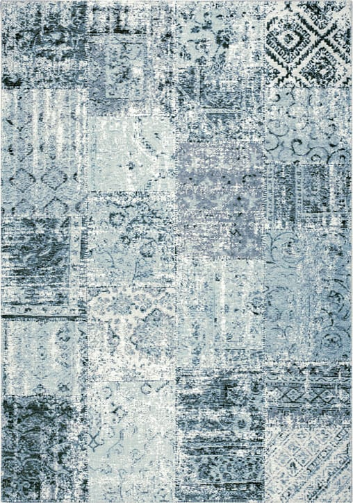 Amalfi Rug by Mastercraft Rugs in 094 0010 5002 Aqua Design; made up of 40% viscose, 38% cotton chenille, and 22% polyester