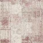Amalfi Rug by Mastercraft Rugs in 094 0010 8002 Pale Pink Design; made of 40% viscose, 38% cotton chenille, and 22% polyester