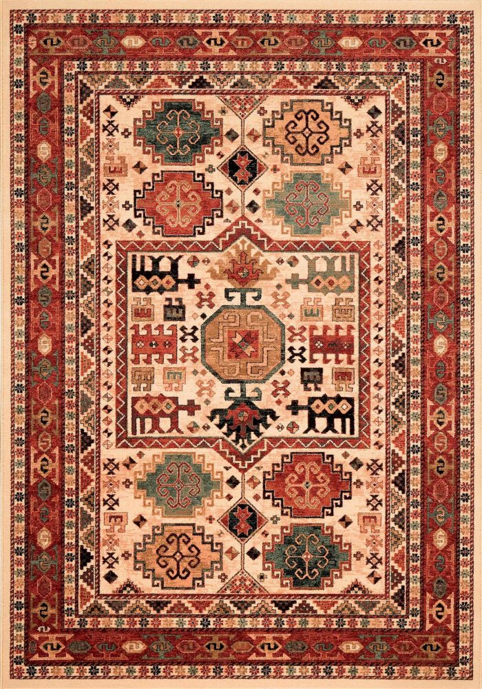 Kashqai Rug by Mastercraft Rugs in 4306 100 Design; made with environmentally friendly T5 100% worsted yarn wool