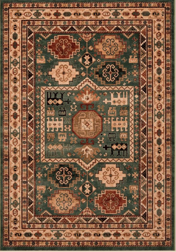 Kashqai Rug by Mastercraft Rugs in 4306 400 Design; made with environmentally friendly T5 100% worsted yarn wool