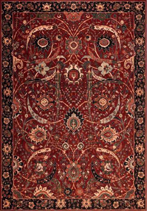 Kashqai Rug by Mastercraft Rugs in 4335 300 Design; made with environmentally friendly T5 100% worsted yarn wool