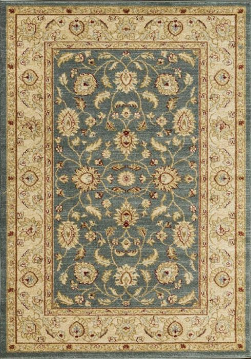 Ziegler Rug in 7709 Blue Design; antistatic, soil repellent, anti-bacterial, water repellent, and non-allergenic