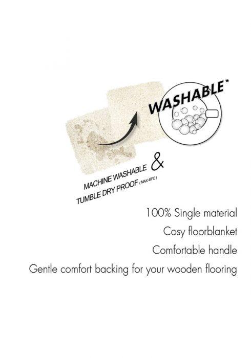 washable rug logo