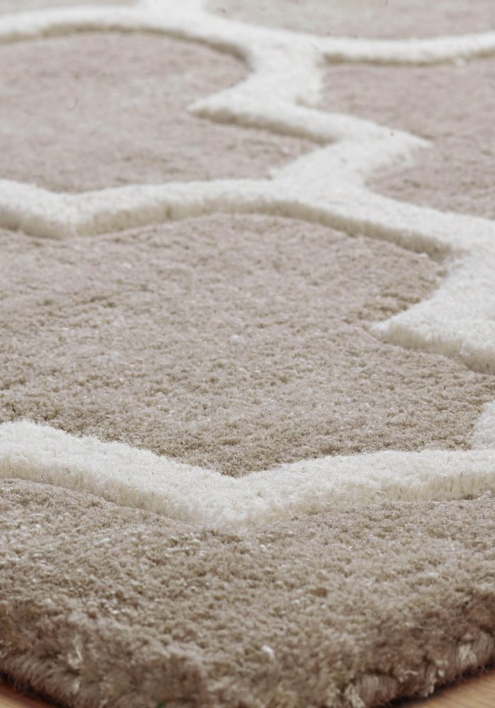 Arabesque Beige Rug Detail