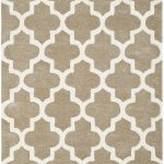 Arabesque Rug by Oriental Weavers in Beige Colour; constructed using blend of wool & viscose & crafted using high & low pile