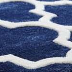 Arabesque Blue Rug Detail