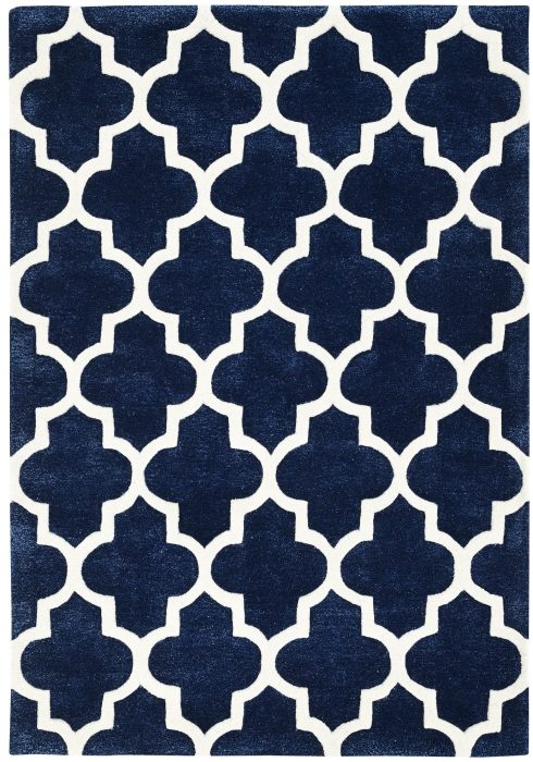 Arabesque Blue Rug Overhead