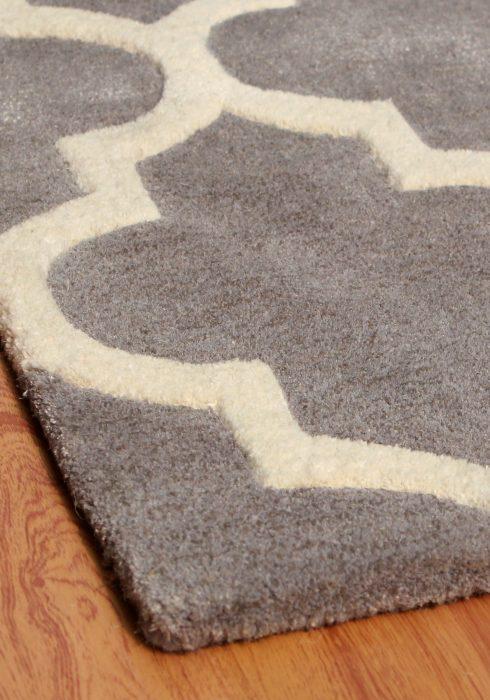 Arabesque Grey Rug Detail