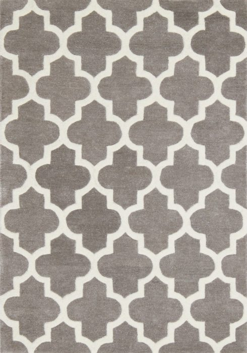 Arabesque Grey Rug Overhead