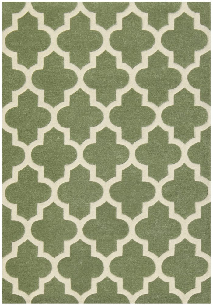 Arabesque Sage Green Rug Overhead