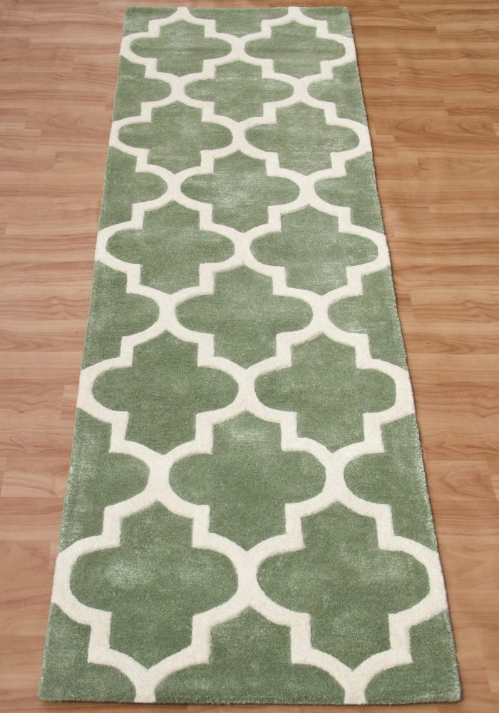 Arabesque Sage Green Runner (2)