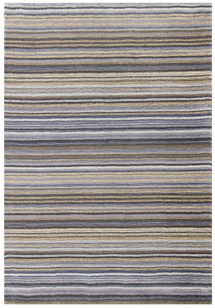Carter Rug by Oriental Weavers in Grey Colour has the classic striped pattern and soft blend of colours