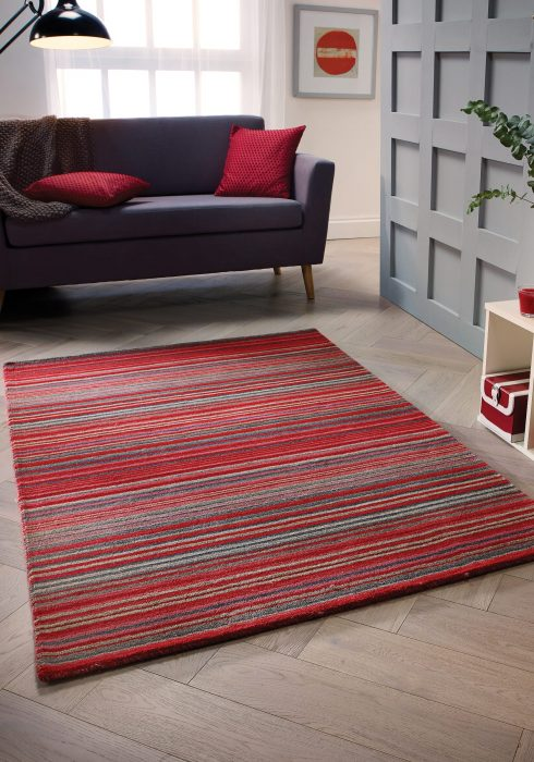 Carter Red Rug Roomshot