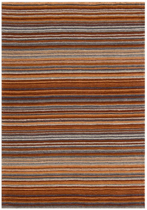 Carter Rug by Oriental Weavers in Rust Colour has the classic striped pattern and soft blend of colours