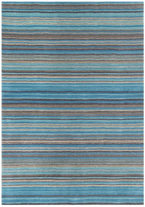 Carter Rug by Oriental Weavers in Teal Colour has the classic striped pattern and soft blend of colours