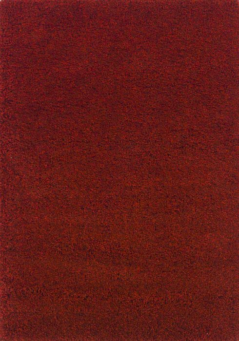 Harmony Rug by Oriental Weavers in Ruby Red Colour; a heavy-weight shaggy made out of 100% heat-set polypropylene