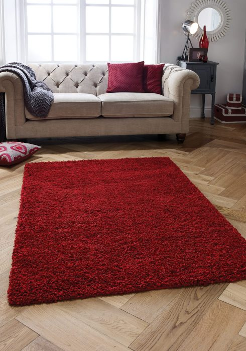Harmony Red Rug Roomshot