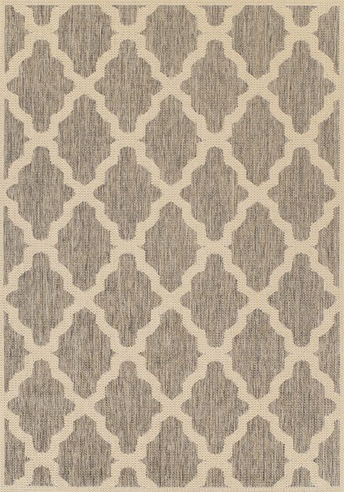 Moda Flatweave Rug by Oriental Weavers in Trellis Grey Design is durable and lasting; features an anti-slip backing