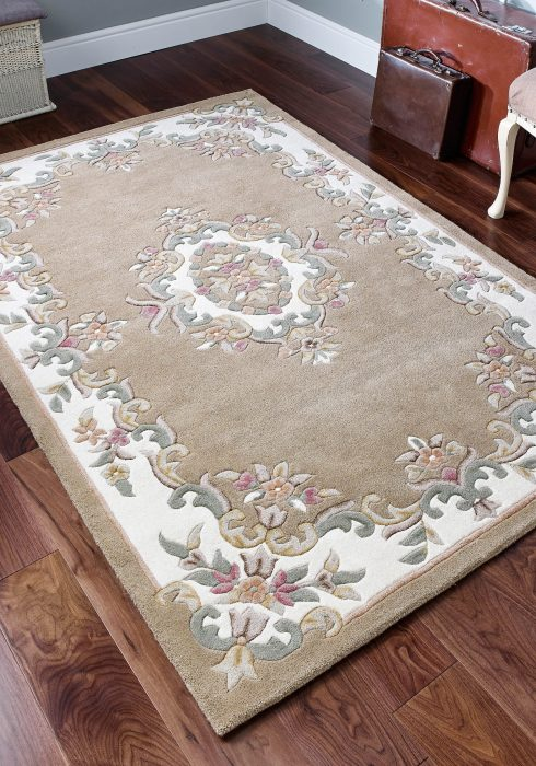 Royal Beige Rug Roomshot