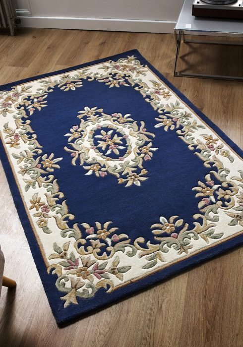 Royal Blue Rug Roomshot