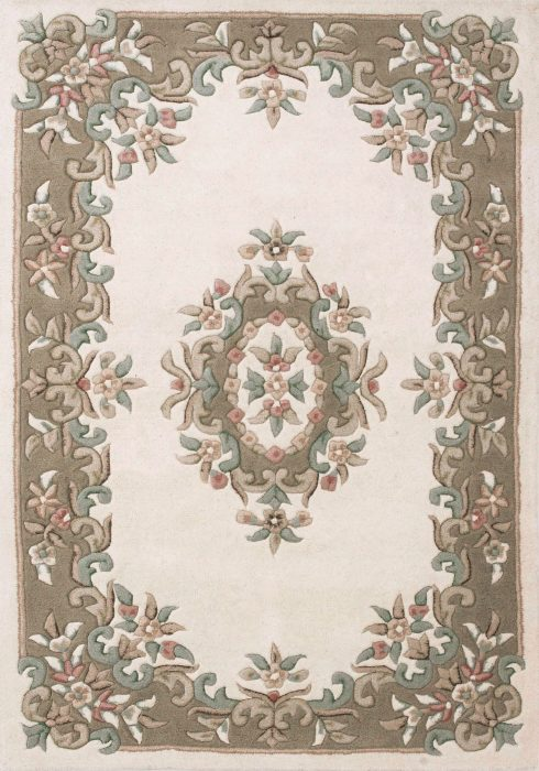 Royal Cream Beige Rug Overhead