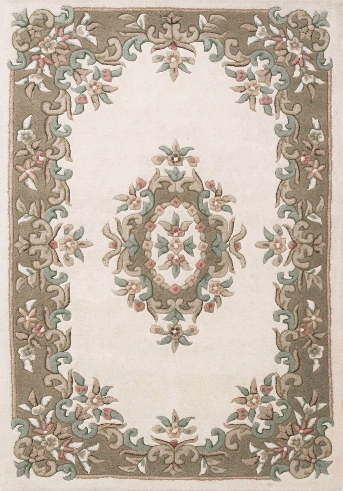 Royal Rug by Oriental Weavers in Cream/Beige Colour; hand-tufted in India using 100% wool; guaranteed to make impact in home