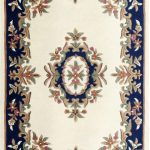 Royal Rug by Oriental Weavers in Cream/Blue Colour; hand-tufted in India using 100% wool; guaranteed to make impact in home