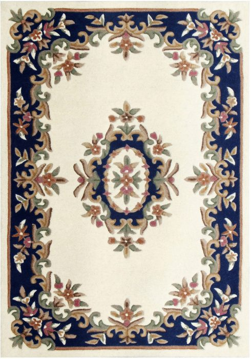 Royal Cream Blue Rug Overhead