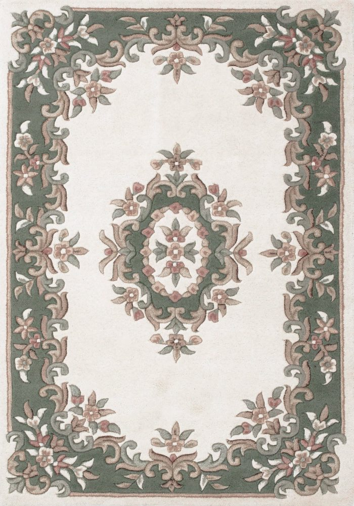 Royal Rug by Oriental Weavers in Cream/Green Colour; hand-tufted in India using 100% wool; guaranteed to make impact in home
