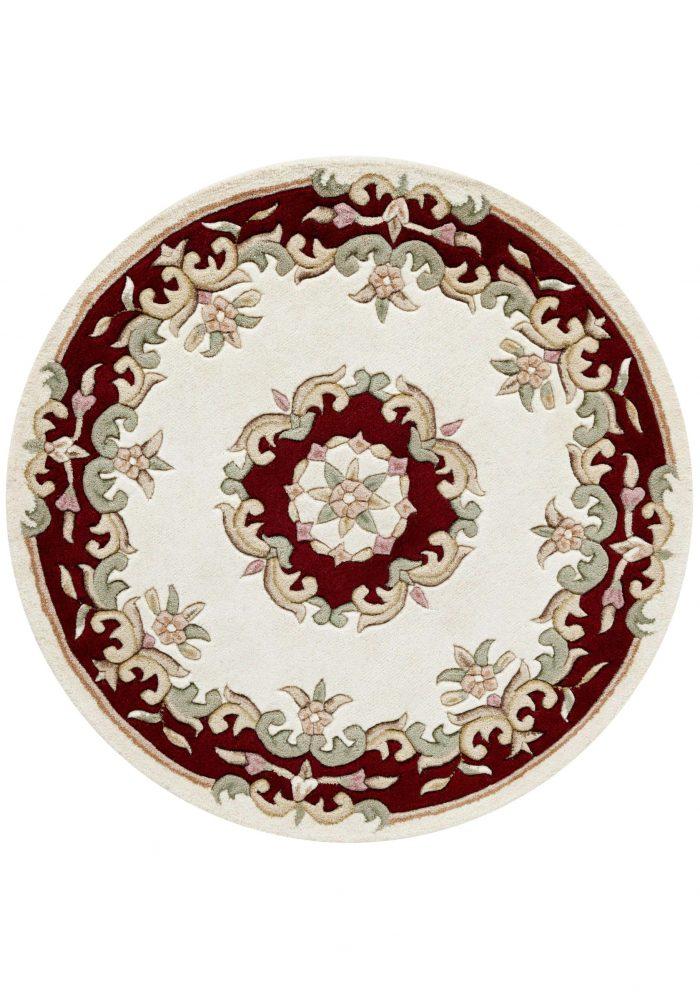 Royal Cream Red Rug Circle