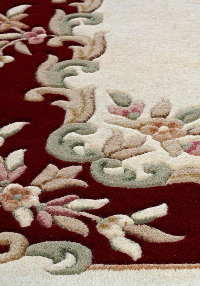 Royal Cream Red Rug Detail