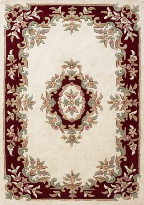 Royal Cream Red Rug Overhead