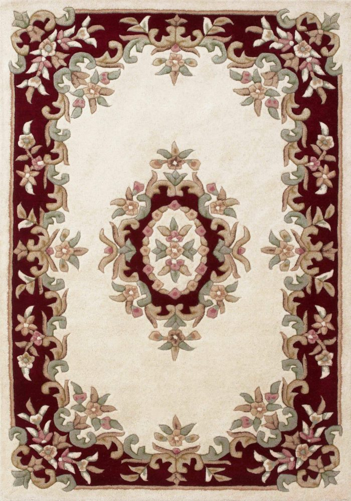 Royal Rug by Oriental Weavers in Cream/Red Colour; hand-tufted in India using 100% wool; guaranteed to make impact in home
