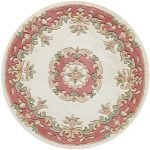 Royal Cream Rose Rug Circle