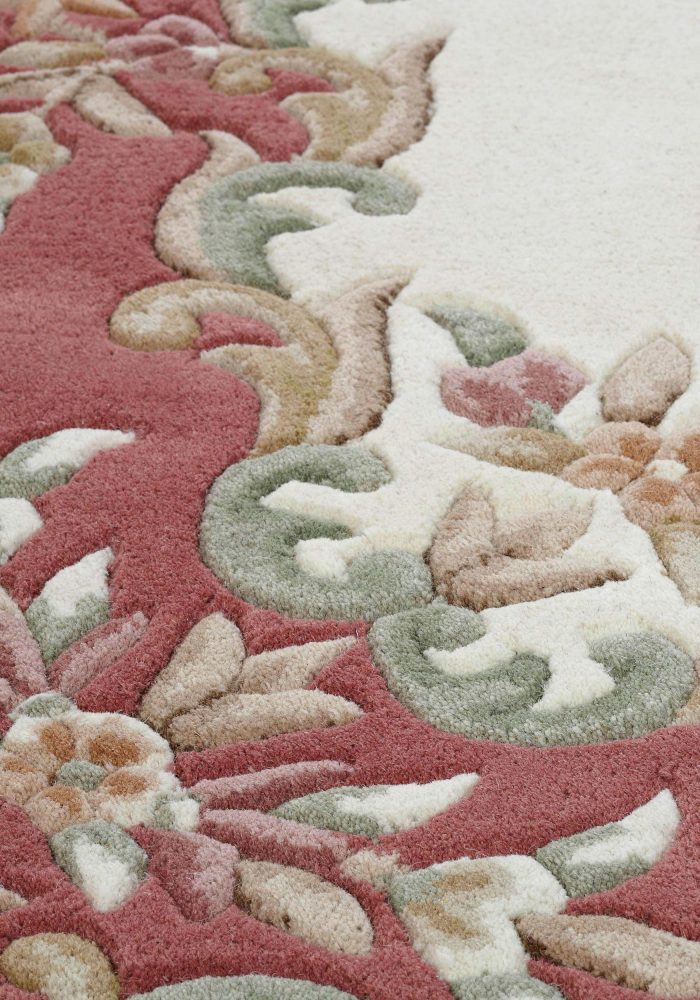 Royal Cream Rose Rug Detail