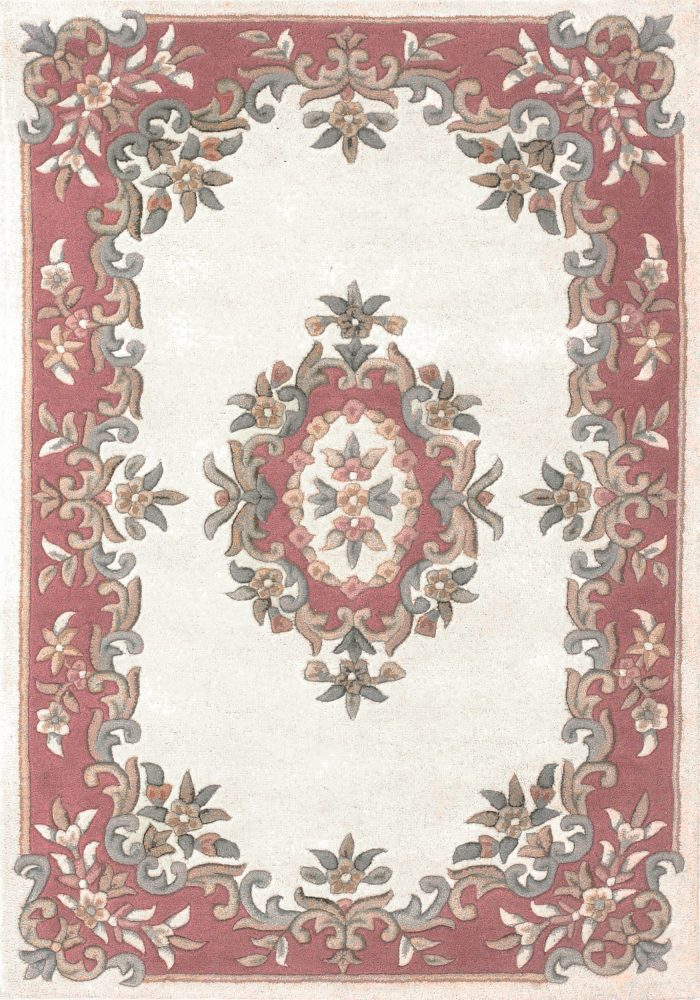Royal Rug by Oriental Weavers in Cream/Rose Colour; hand-tufted in India using 100% wool; guaranteed to make impact in home
