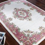 Royal Cream Rose Rug Roomshot