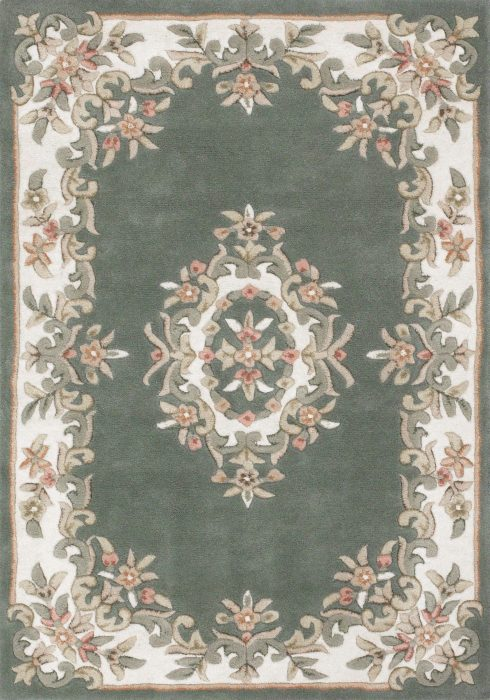 Royal Green Rug Overhead
