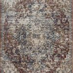 Alhambra Rug by Mastercraft Rugs in 6504B Red/Red Design; a silk-look, antique rug with a low pile and a dense weave