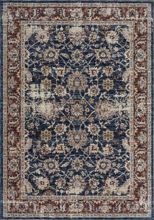 Alhambra Rug by Mastercraft Rugs in 6549A Dark Blue/Dark Blue Design; a silk-look rug with a low pile and a dense weave
