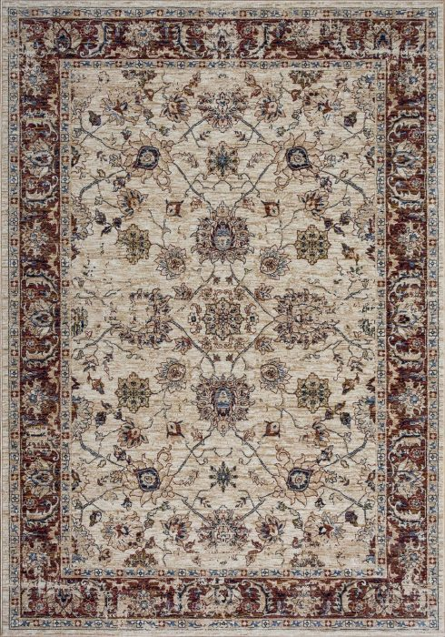 Alhambra Rug by Mastercraft Rugs in 6549A Ivory/Ivory Design; a silk-look, antique rug with a low pile and a dense weave