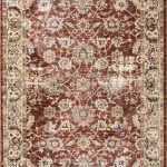 Alhambra Rug by Mastercraft Rugs in 6549A Red/Red Design; a silk-look, antique rug with a low pile and a dense weave