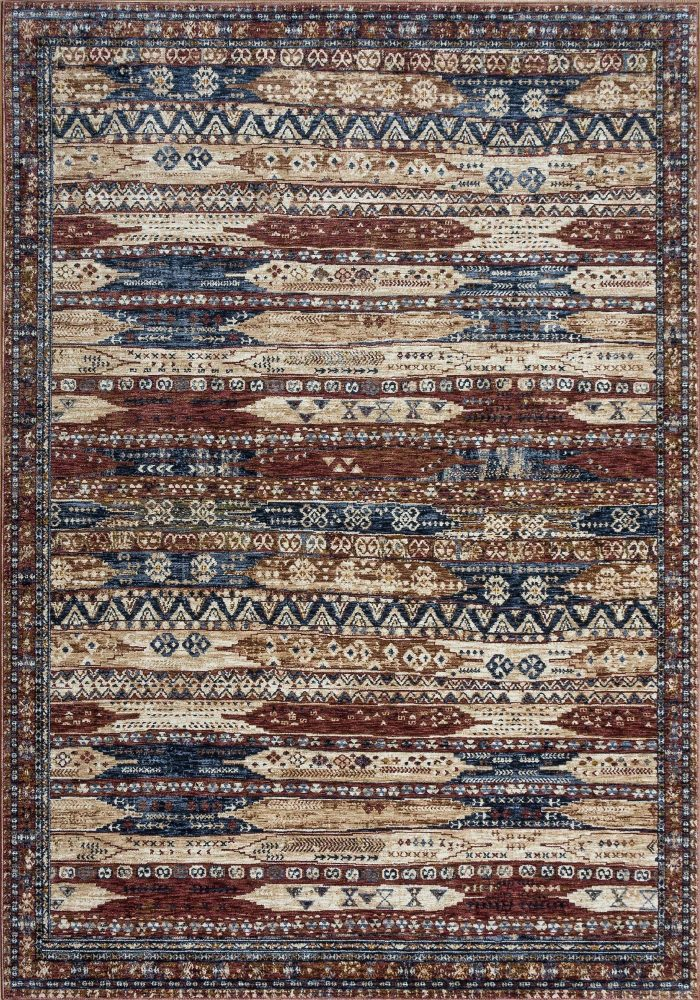 Alhambra Rug by Mastercraft Rugs in 6576A Ivory/Red Design; a silk-look, antique rug with a low pile and a dense weave