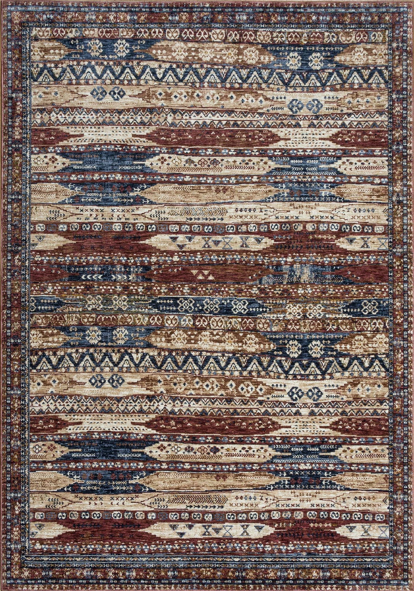 Mastercraft Rugs Design 6576a Ivory Red