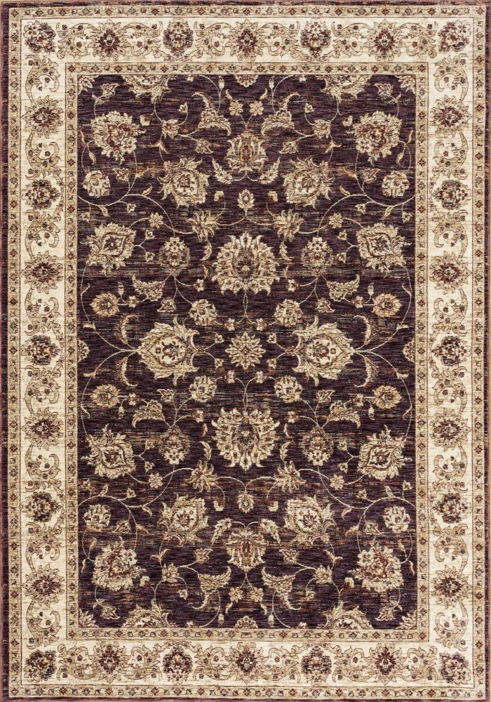 Alhambra Rug by Mastercraft Rugs in 6992A Dark Blue/Red Design; a silk-look, antique rug with a low pile and a dense weave