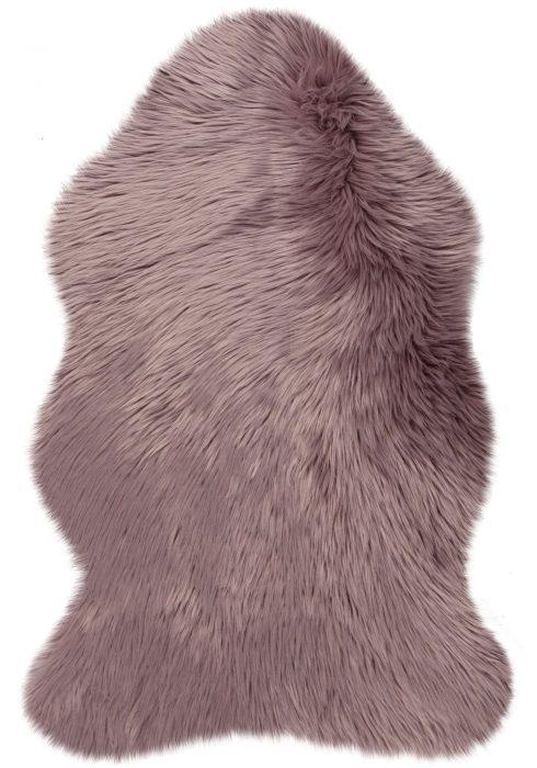 Faux Fur Mauve Rug