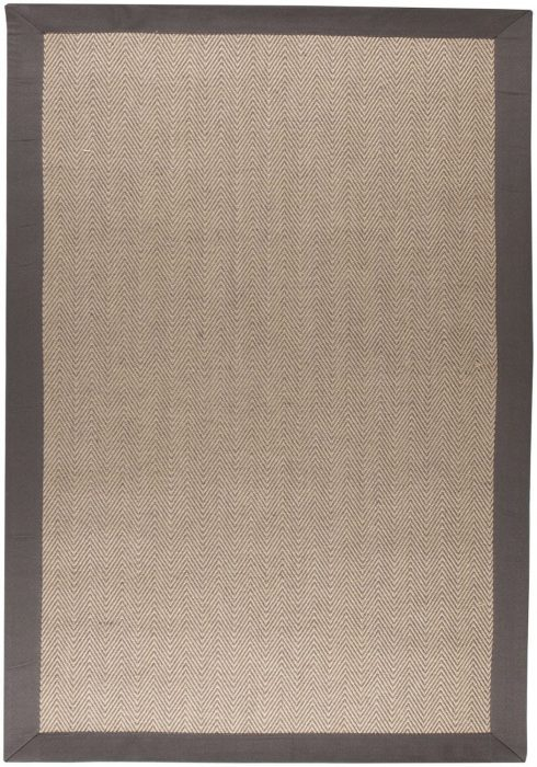 HERRINGBONE GREY NATURAL RUG