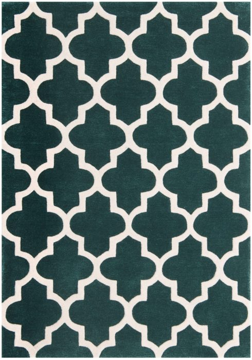 Arabesque Emerald Rug Overhead