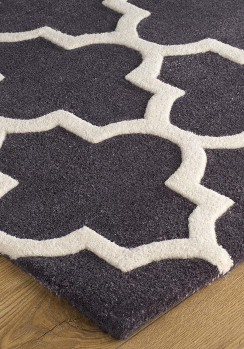 Arabesque Slate Rug Detail 1