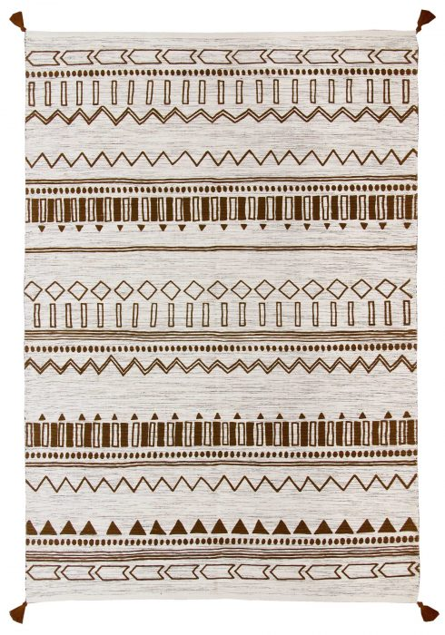 Beni Kelim Rug by Oriental Weavers in Gold Colour has a handwoven printed Kelim and made up of 100% Cotton